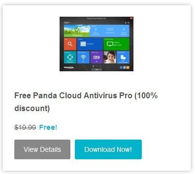限时免费获取Panda Cloud Antivirus Pro 3.0.1 半年key