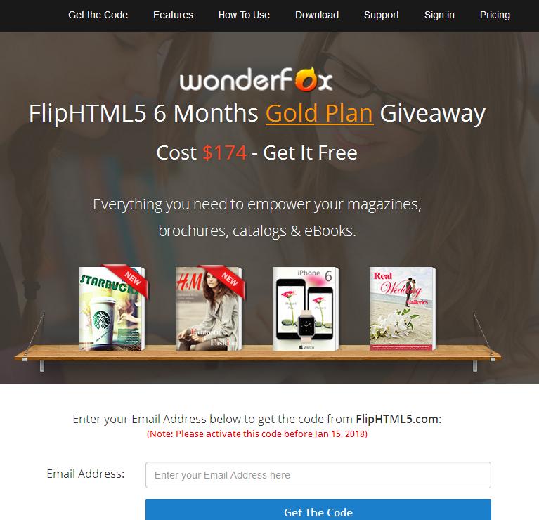 【圣诞免赠】FlipHTML5 6个月 Gold Plan 赠送活动