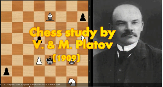 Beautiful endgame study by the Platov brothers